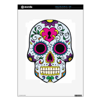 Mexican Skull Pattern Skin For iPad 2
