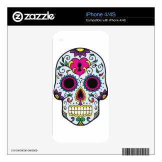 Mexican Skull Pattern Skin For iPhone 4S