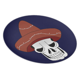 Mexican Skull Plate