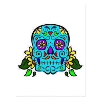 mexican skull postcard