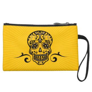 Mexican skull, slide de loosely Muertos Suede Wristlet Wallet
