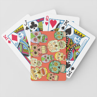 Mexican Skulls Bicycle Playing Cards
