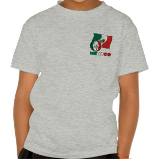 Mexican Soccer Ball and Flag Tee Shirts