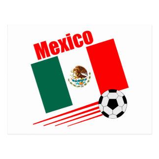 Mexican Soccer Team Postcard