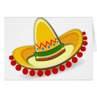 Mexican Sombrero Card
