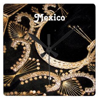 Mexican Sombrero Square Wall Clocks