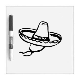 Mexican Sombrero Dry-Erase Boards