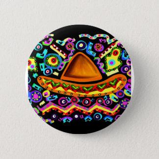Mexican Sombrero Pinback Button