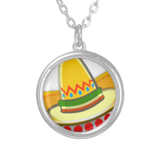 Mexican Sombrero Silver Plated Necklace