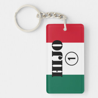 Mexican Sons : Hijo Numero Uno Double-Sided Rectangular Acrylic Keychain