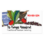 Mexican Southwestern foods chef catering biz cards Double-Sided Standard Business Cards (Pack Of 100)