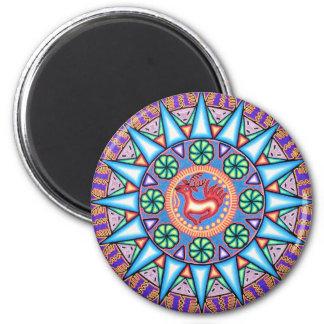 Mexican String Art Geometric Sun Fridge Magnets