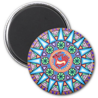 Mexican String Art Geometric Sun Magnets