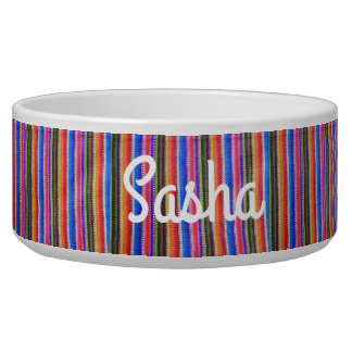 Mexican Striped Personalized Custom Dog bowl