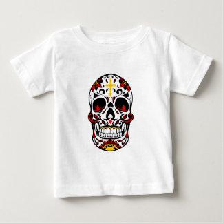 Mexican Sugar Skull Christian Cross On Forehead Baby T-Shirt