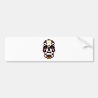 Mexican Sugar Skull Christian Cross On Forehead Bumper Sticker