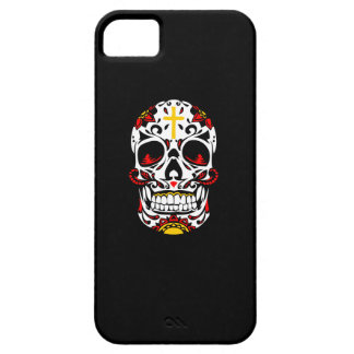 Mexican Sugar Skull Christian Cross On Forehead iPhone SE/5/5s Case