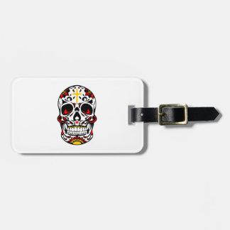Mexican Sugar Skull Christian Cross On Forehead Luggage Tag