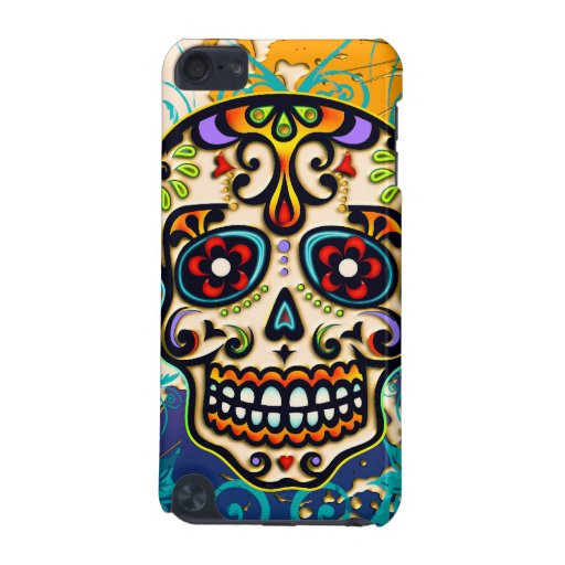 Mexican Sugar Skull, Day of the Dead iPod Touch 5G Cover