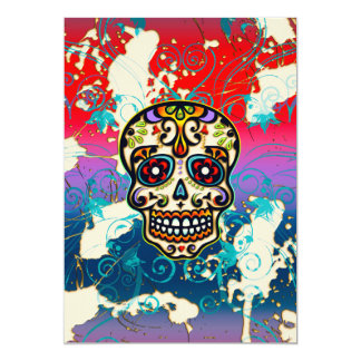 Mexican Sugar Skull, Day of the Dead, Ornaments Card