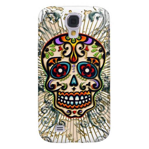 Mexican Sugar Skull, Day of the Dead, Ornaments Samsung Galaxy S4 Case