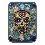 Mexican Sugar Skull, Day of the Dead, Ornaments MacBook Air Sleeves