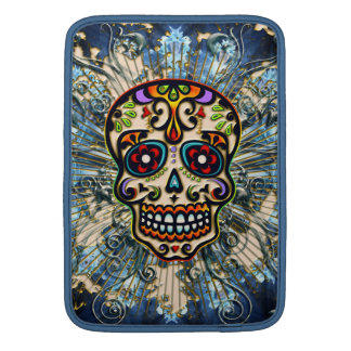Mexican Sugar Skull, Day of the Dead, Ornaments MacBook Sleeve