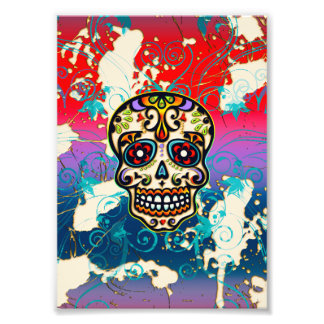 Mexican Sugar Skull, Day of the Dead, Ornaments Photo Print