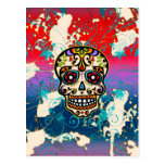 Mexican Sugar Skull, Day of the Dead, Ornaments Post Cards