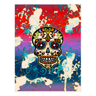 Mexican Sugar Skull, Day of the Dead, Ornaments Postcard