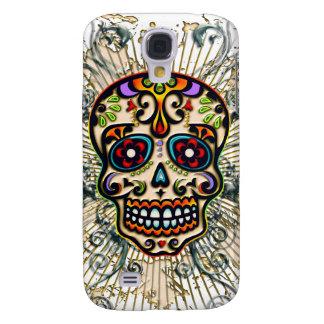 Mexican Sugar Skull, Day of the Dead, Ornaments Samsung S4 Case