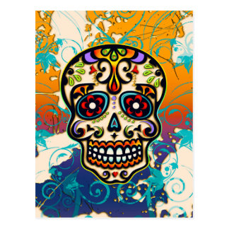 Mexican Sugar Skull, Day of the Dead Post Cards