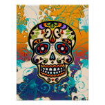 Mexican Sugar Skull, Day of the Dead Posters
