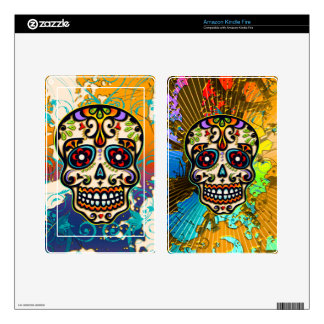 Mexican Sugar Skull Day of the Dead Decal For Kindle Fire