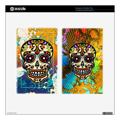 Mexican Sugar Skull, Day of the Dead Decal For Kindle Fire