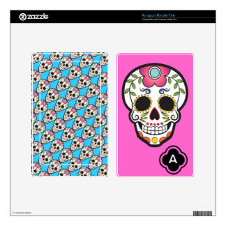 Mexican Sugar Skull Decals For Kindle Fire
