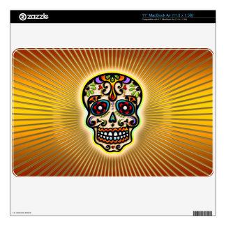Mexican Sugar Skull Dias de los muertos Skins For The MacBook
