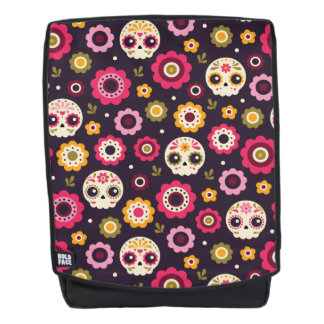 Mexican Sugar Skull Floral Pattern Backpack