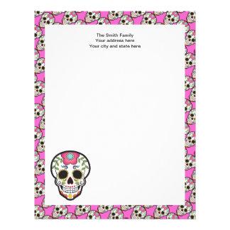 Mexican Sugar Skull Custom Letterhead