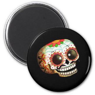 Mexican Sugar Skull Refrigerator Magnet