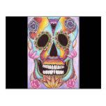 Mexican Sugar Skull Postcard