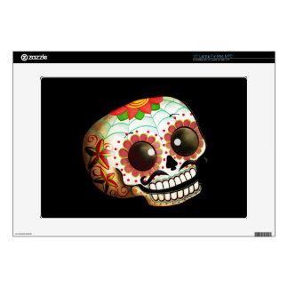 "Mexican Sugar Skull 15"" Laptop Decals"