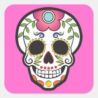 Mexican Sugar Skull Square Sticker