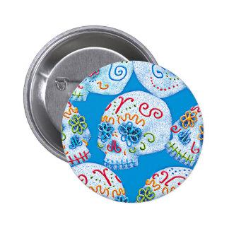 Mexican Sugar Skulls Button