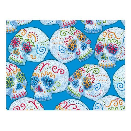 Mexican Sugar Skulls Postcard