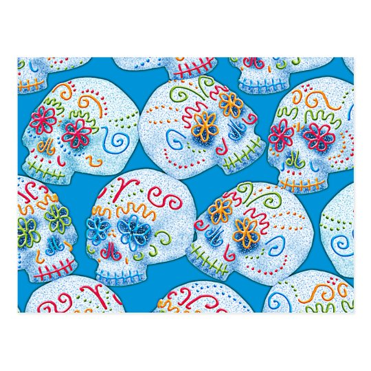 Mexican Sugar Skulls Postcard