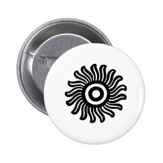 Mexican Sun Motif Button