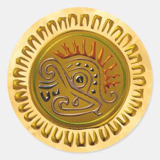 Mexican Sunbird Classic Round Sticker