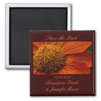 Mexican Sunflower Save the Date magnet