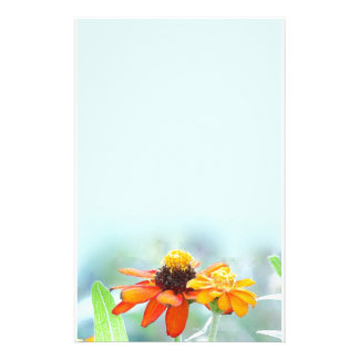Mexican Sunflowers Blue Stationery